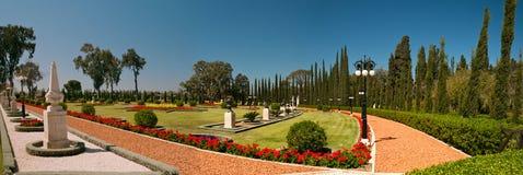 Panorama de jardin de BAHAI dans Akko Image stock