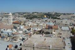 Panorama de Jerusalén Imágenes de archivo libres de regalías