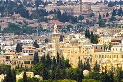 Panorama de Jerusalén 3 Foto de archivo libre de regalías