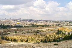 Panorama de Jerusalem 2 Imagem de Stock Royalty Free
