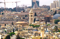 Panorama de Jerusalem 5 Imagem de Stock Royalty Free
