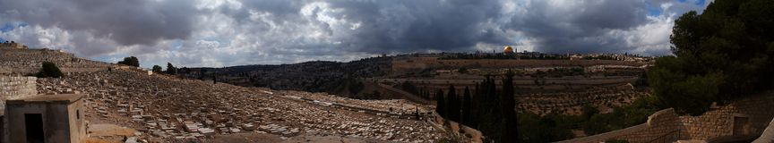 Panorama de Jerusalem Fotografia de Stock Royalty Free