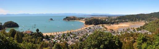Panorama de Kaiteriteri, Nouvelle Zélande Photographie stock libre de droits