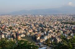 Panorama de Katmandou Photos libres de droits