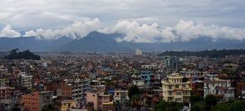 Panorama de Katmandou, Népal Photographie stock libre de droits