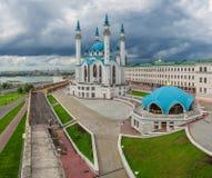 Panorama de Kazan Kremlin Photographie stock libre de droits
