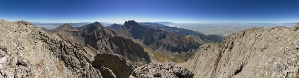 Panorama de Kit Carson Peak Photo libre de droits