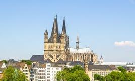 Panorama de Koeln imagen de archivo libre de regalías