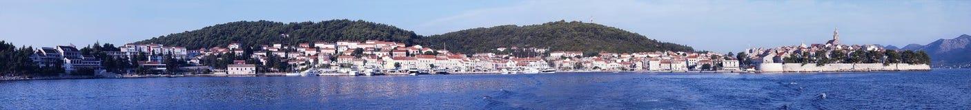 Panorama de Korcula imágenes de archivo libres de regalías