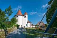 Panorama de Kranj, Slovénie, l'Europe photographie stock