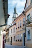 Panorama de Kranj, Slovénie, l'Europe photo stock