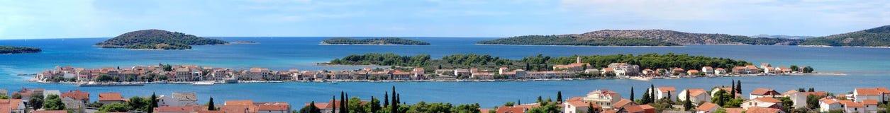 Panorama de Krapanj fotos de stock royalty free