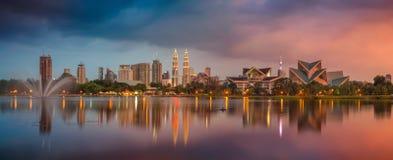 Panorama de Kuala Lumpur imagem de stock