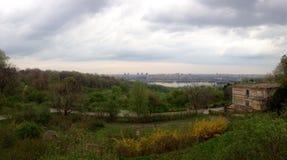 Panorama de Kyiv Imagens de Stock Royalty Free