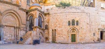 Panorama de l'église sainte de tombe image libre de droits