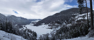 Panorama de l'Albulatal Image libre de droits