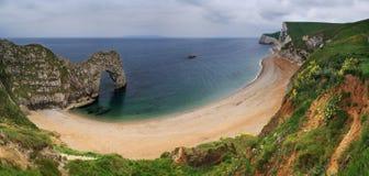 panorama de l'Angleterre de durdle de Dorset de trappe Photos libres de droits