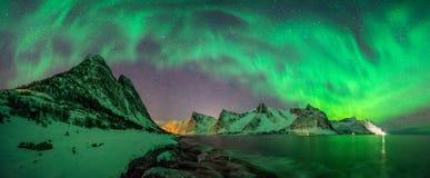 Panorama de l'aurore de Kliptinden images libres de droits