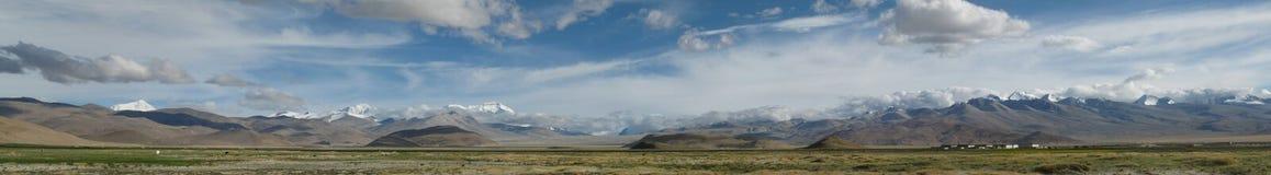 Panorama de l'Himalaya Photo libre de droits