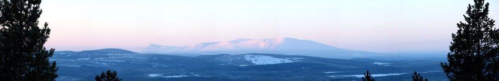 Panorama de l'hiver Photographie stock
