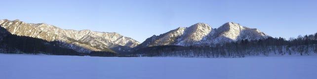 Panorama de l'hiver photo stock