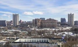 Panorama de l'hiver Moscou Image stock