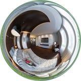 panorama de l'illustration 3d de conception intérieure de chambre à coucher Photographie stock libre de droits