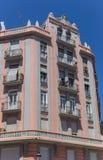 Panorama de l'immeuble coloré dans le voisinage de Russafa Images stock