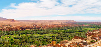 Panorama de l'oasis de Tinghir, Maroc Photos libres de droits