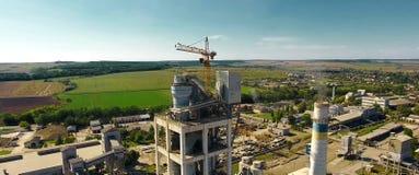 Panorama de l'usine de ciment Grande usine de ciment photo stock