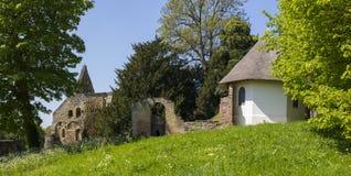 Panorama de la abadía de la batalla en Sussex del este Imagenes de archivo