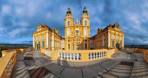 Panorama de la abadía de Melk Imagenes de archivo