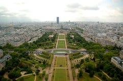Panorama de la antena de París Foto de archivo libre de regalías