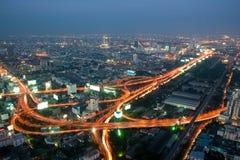 Panorama de la autopista de Bangkok Fotos de archivo
