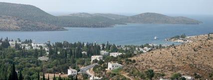 Panorama de la bahía de Bitez en Bodrum Imagen de archivo libre de regalías