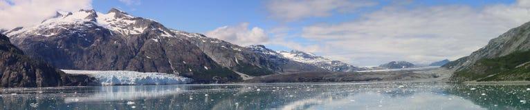 Panorama de la bahía de glaciar Foto de archivo libre de regalías