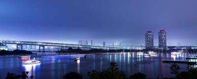 Panorama de la bahía de Tokio imagen de archivo libre de regalías