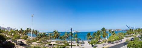 Panorama de la baie de Santa Marta, Colombie Image libre de droits