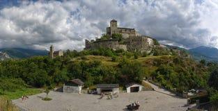 Panorama de la basílica de Valerio, Sion, Suiza Fotografía de archivo libre de regalías