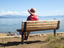 Panorama de la belleza escénica de Lake Tahoe. Imagen de archivo libre de regalías