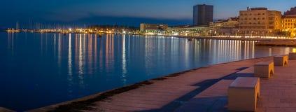 Panorama de la capa del oeste de la fractura de la ciudad, Croacia Imágenes de archivo libres de regalías