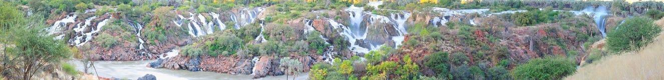 Panorama de la cascada de Epupa, Namibia Fotos de archivo
