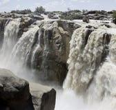 Panorama de la cascade à écriture ligne par ligne d'Augrabies image stock