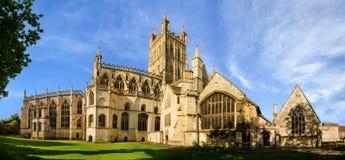 Panorama de la catedral de Gloucester imágenes de archivo libres de regalías