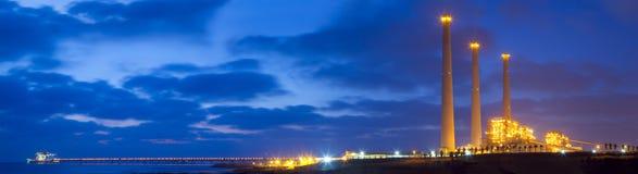 Panorama de la central eléctrica Imagenes de archivo