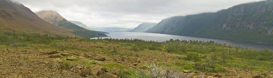 Panorama de la charca del río de la trucha Fotos de archivo libres de regalías