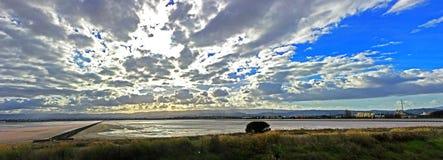 Panorama de la charca de la sal Fotos de archivo