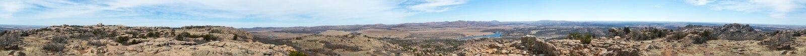 Panorama de la cima de la montaña Imagenes de archivo