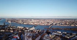 Panorama de la ciudad almacen de metraje de vídeo