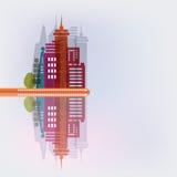 Panorama de la ciudad Fotografía de archivo libre de regalías